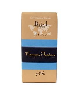 Schwarze Schokoladetafel Brasilien - Pralus