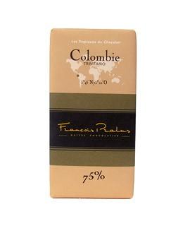 Schwarze Schokoladetafel Kolumbien - Pralus