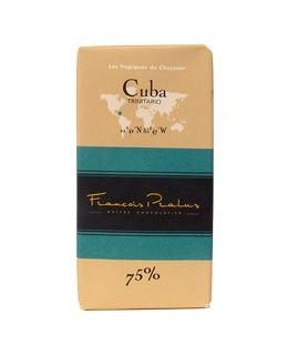 Schwarze Schokoladetafel Kuba - Pralus