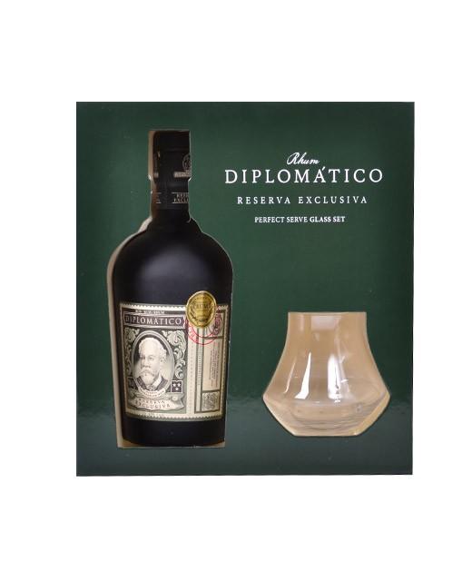 Schachtel Diplomatico Reserva Exclusiva - mit zusätzlichen 2 Gläsern - Diplomatico