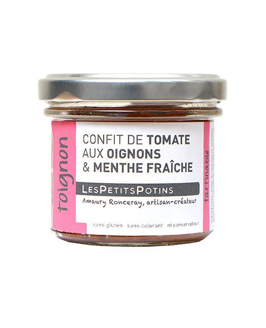 Tomatenconfit mit Zwiebeln und Basilikum - Les Petits Potins