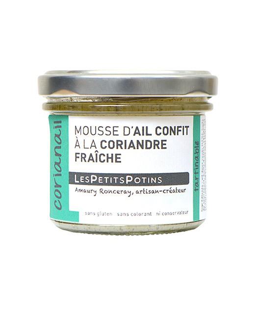 Knoblauchschaum mit Koriander und grünem Pfeffer - Les Petits Potins