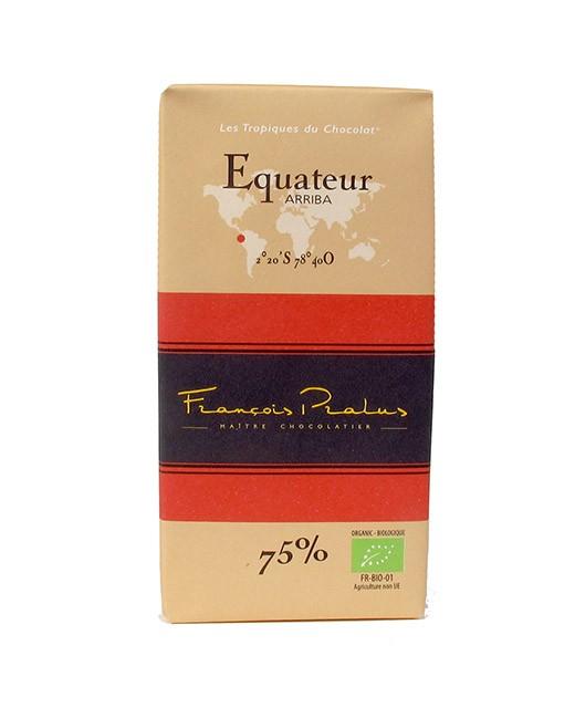 Schwarze Bio-Schokoladetafel Ecuador  - Pralus