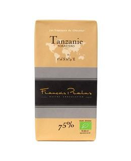 Schwarze Bio-Schokoladetafel Tanzania - Pralus
