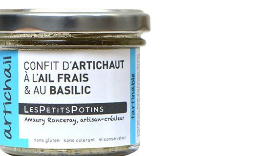 Artischockenconfit mit frischem Knobaluch und Basilikum - Les Petits Potins