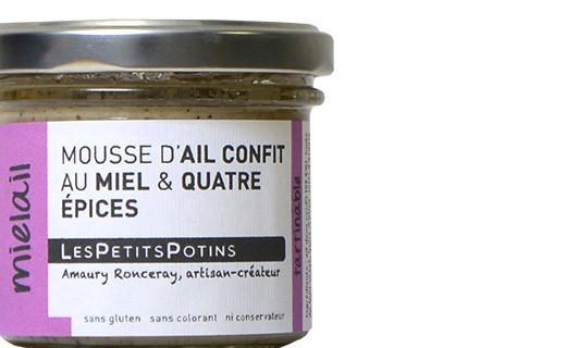 Knoblauch-Mousse mit  Honig und Viergewürz - Les Petits Potins
