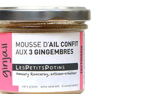 Mousse aus Knoblauchconfit mit drei verschiedenen Ingwersorten - Les Petits Potins