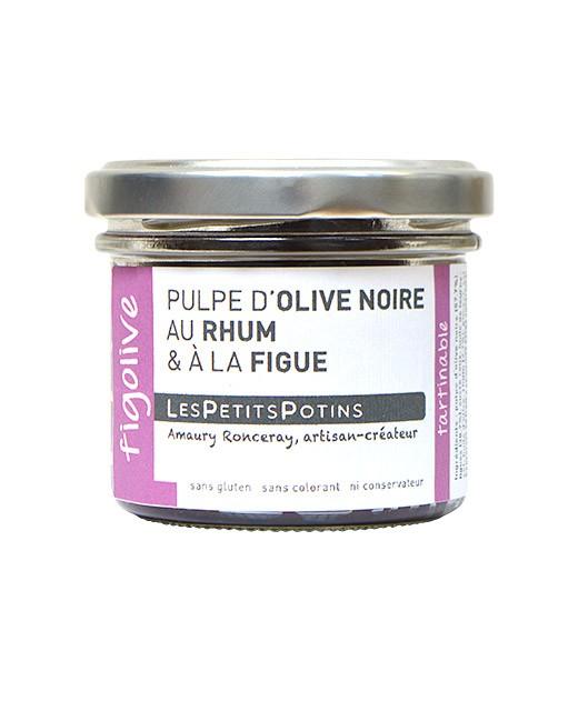 schwarze Oliventapenade mit Rum und Feige - Les Petits Potins