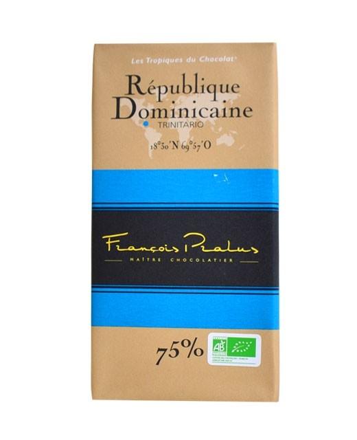 Schwarze Bio-Schokoladetafel Dominikanische Republik - Pralus