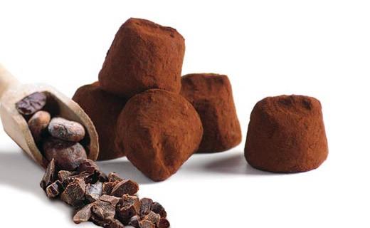 Trüffel Fanatasie mit Kakaobohnenstücken - Mathez